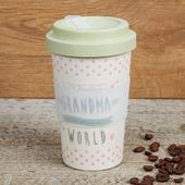 Eco Loveliest Grandma Bamboo Travel Mug With Screw Lid & Silicone Band