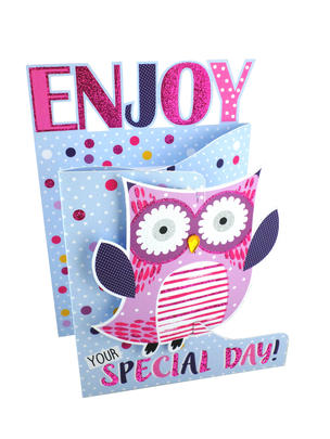 Enjoy Your Special Day 3D Cutting Edge Birthday Card