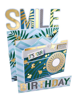 Smile It's Your Birthday 3D Cutting Edge Birthday Card