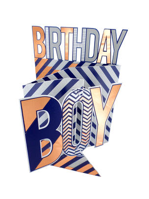 Birthday Boy 3D Cutting Edge Birthday Card