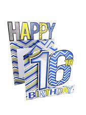 Happy 16th Birthday Boys 3D Cutting Edge Birthday Card