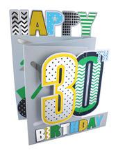 30th Birthday Male 3D Cutting Edge Birthday Card