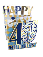 40th Birthday Male 3D Cutting Edge Birthday Card