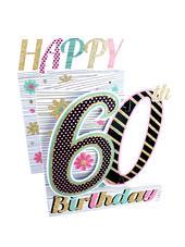 60th Birthday Female 3D Cutting Edge Birthday Card