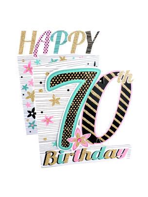 70th Birthday Female 3D Cutting Edge Birthday Card