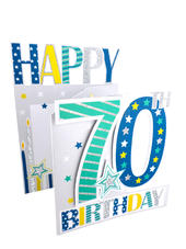 70th Birthday Male 3D Cutting Edge Birthday Card