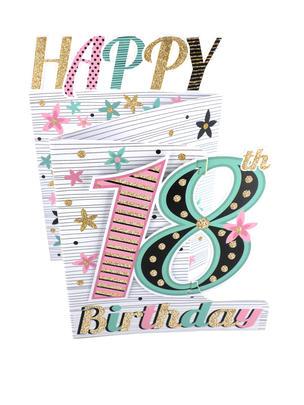 18th Birthday Female 3D Cutting Edge Birthday Card