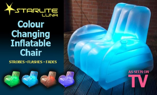 The Starlite Lunar Colour Changing Inflatable Chair