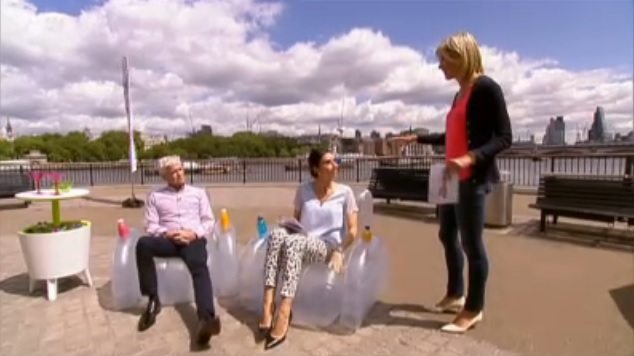 Philip Schofield Sitting in the Starlite Luna Chair on ITV This Morning