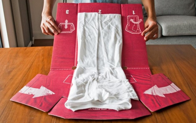 The T-Shirt Folder is Handy Ideas No. 3 Gadget for Students