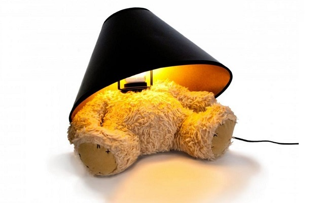 Handy Ideas | Must-have headless bear wearing a lamp shade