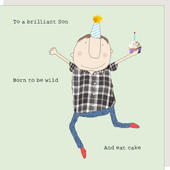 Rosie Made A Thing Son Born To Be Wild & Eat Cake Birthday Card