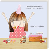 Rosie Made A Thing Daughter Hope It's Cakey Happy Birthday Card