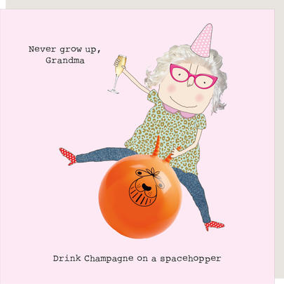 Rosie Made A Thing Never Grow Up Grandma Birthday Card