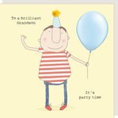 Rosie Made A Thing Grandson It's Party Time Birthday Card