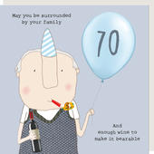 Rosie Made A Thing Make It Bearable Male 70th Birthday Card