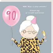 Rosie Made A Thing What's Your Secret Female 90th Birthday Card