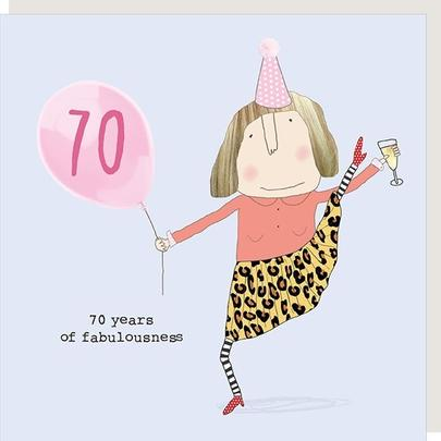 Rosie Made A Thing Fabulousness Female 70th Birthday Card