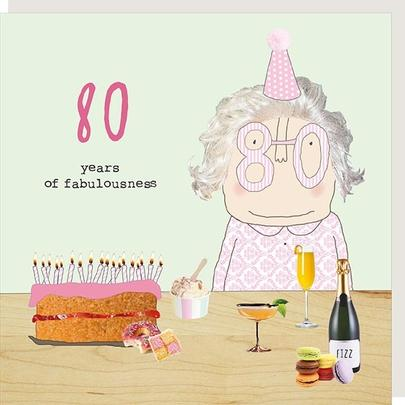 Rosie Made A Thing Fabulousness Female 80th Birthday Card