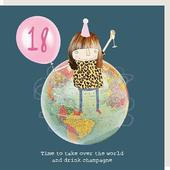 Rosie Made A Thing Take Over The World Female 18th Birthday Card