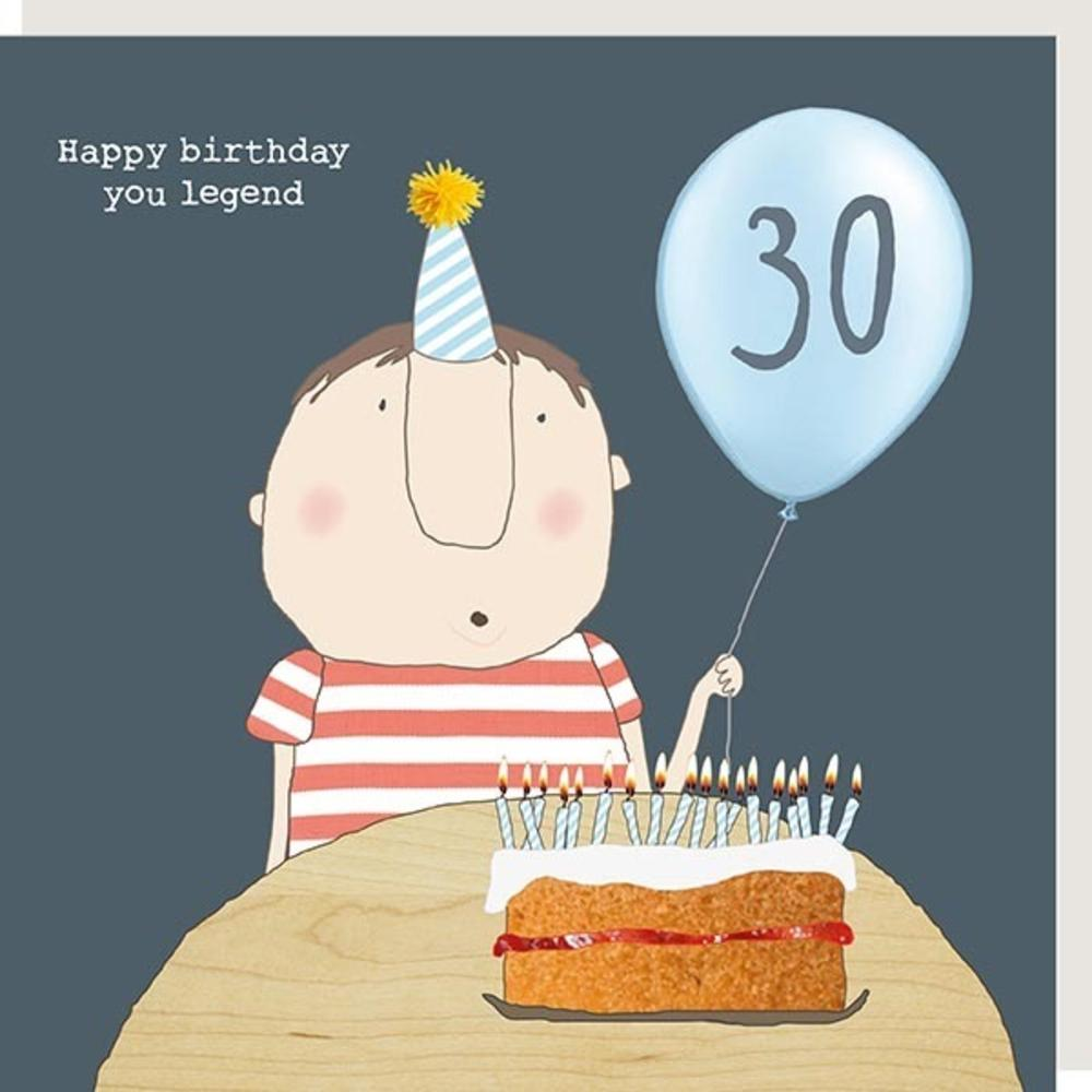 Rosie Made A Thing Legend Male 30th Happy Birthday Card