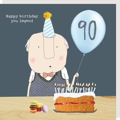 Rosie Made A Thing Legend Male 90th Happy Birthday Card