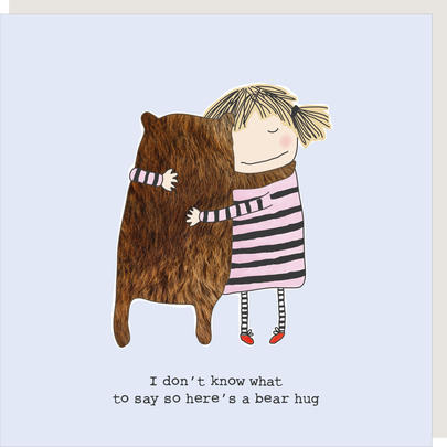 Rosie Made A Thing Here's A Bear Hug Greeting Card
