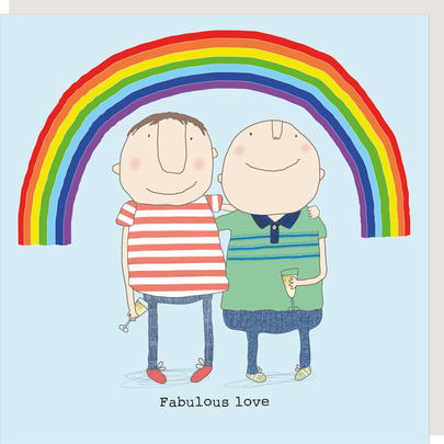 Rosie Made A Thing Fabulous Love Male Relationship Greeting Card
