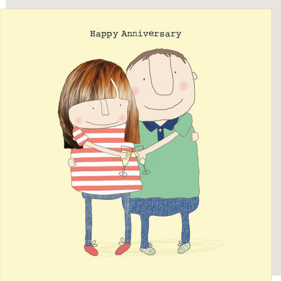 Rosie Made A Thing Young People Happy Anniversary Greeting Card