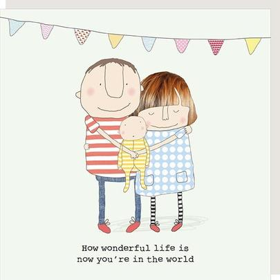 Rosie Made A Thing Wonderful Life New Baby Greeting Card