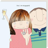 Rosie Made A Thing You're Engaged Engagement Greeting Card