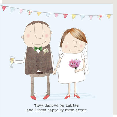 Rosie Made A Thing Lived Happily Ever After Wedding Greeting Card