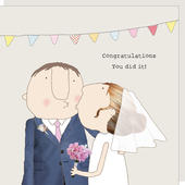 Rosie Made A Thing Congratulations You Did It Wedding Greeting Card