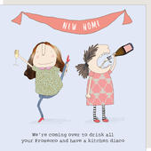 Rosie Made A Thing Prosecco & Kitchen Disco New Home Greeting Card