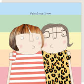 Rosie Made A Thing Fabulous Love Female Relationship Greeting Card