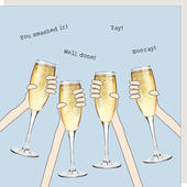 Rosie Made A Thing Cheers Hooray Well Done Greeting Card