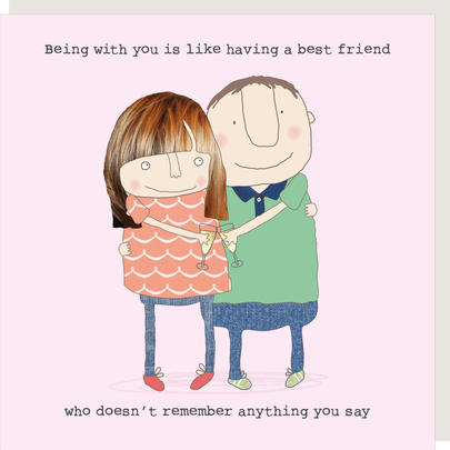 Rosie Made A Thing With You Like Having Best Friend Greeting Card