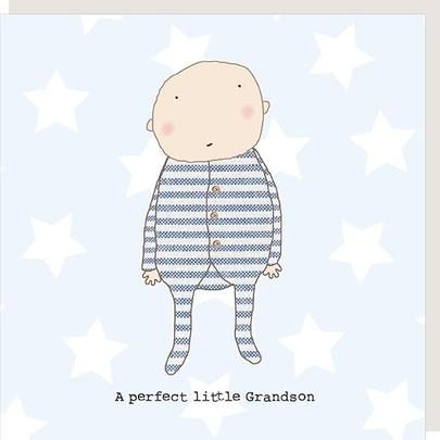Rosie Made A Thing Perfect Grandson New Baby Greeting Card
