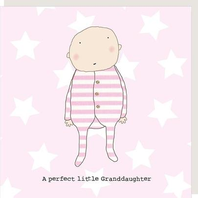 Rosie Made A Thing Perfect Granddaughter New Baby Greeting Card
