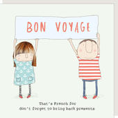 Rosie Made A Thing Bon Voyage Bring Back Presents Greeting Card