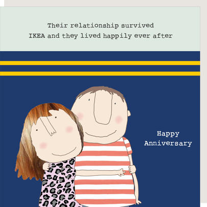 Rosie Made A Thing Survived Ikea Happy Anniversary Greeting Card