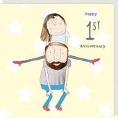 Rosie Made A Thing Happy 1st Anniversary Greeting Card