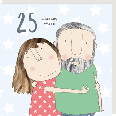 Rosie Made A Thing Amazing Years 25th Anniversary Greeting Card