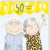 Rosie Made A Thing Amazing Years 50th Anniversary Greeting Card