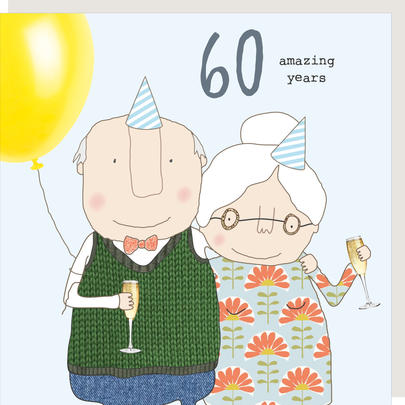Rosie Made A Thing Amazing Years 60th Anniversary Greeting Card