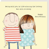 Rosie Made A Thing Winning The Lottery Anniversary Greeting Card