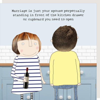 Rosie Made A Thing Marriage Is Just Greeting Card