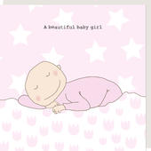 Rosie Made A Thing A Beautiful Baby Girl New Baby Greeting Card