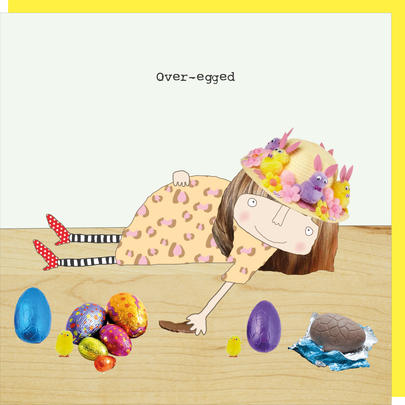 Rosie Made A Thing Over-Egged Happy Easter Card