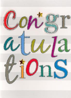 Congratulations Greeting Card Blank Inside